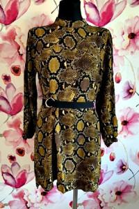 zara sukienka modny wzór węża skora jak nowa hit 40...