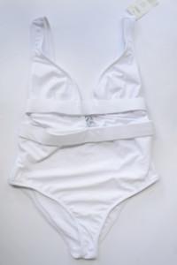 Strój Kostium Kąpielowy Biały ASOS 75E NOWY Sexy
