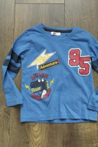 Bluzeczka z długim rękawem niebieska 92...