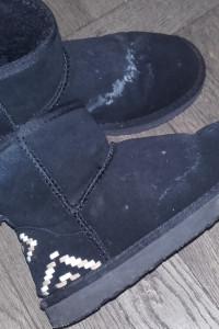 Używane buty czarne 36 śniegowce