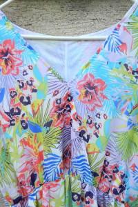 Wielobarwna sukienka florystyczny wzór 40 lub 42