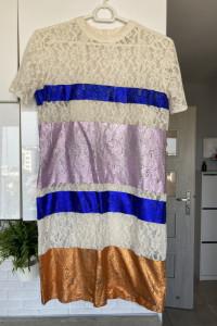 Asos koronkowa koronka sukienka kolorowa