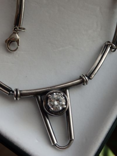 Naszyjniki Naszyjnik srebrny 925 z cyrkonią