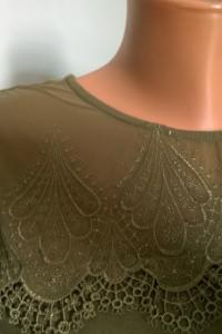 bluzka z haftowaną siateczką S M...
