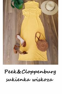 Nowa żółta sukienka Peak Cloppenburg ołówkowa tuba 2 w 1 midi s...