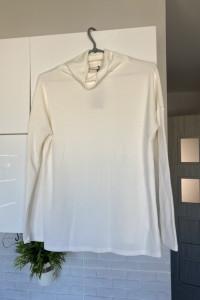 Reserved biała bluzka golf klasyka minimalizm