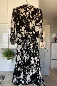 Massimo Dutti długa sukienka maxi kwiaty floral...