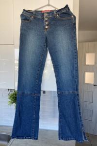 Hot Kiss jeansy dzwony hippie sznurowane nogawki...