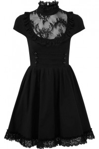 Killstar Sukienka czarna koronkowa gotycka lolita...