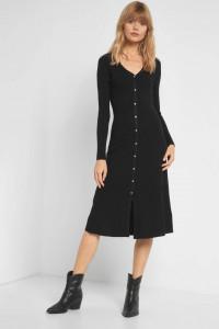 Nowa sukienka Orsay S 36 czarna dzianinowa sweterkowa długa...