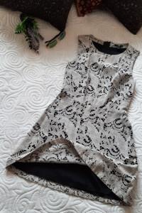 sukienka koronkowa XS S HM...