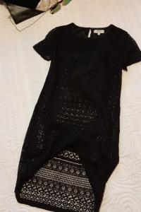 czarna sukienka z koronki S