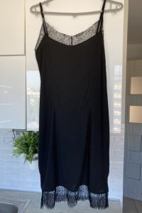 HM czarna sukienka bieliźniana...