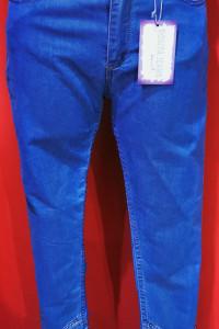 Spodnie jeansy zdobionia na nogawkach