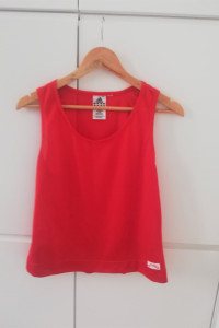 Czerwona sportowa koszulka Adidas wf siłownia fitness...