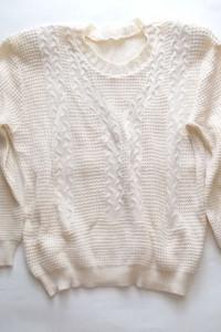 damski sweterek beżowy sweter ecru...