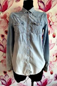 hollister koszula jeansowa ombre przetarcia logowana blog 34...