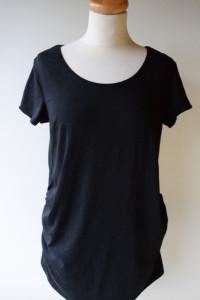 Bluzka Czarna H&M Mama M 38 Ciążowa Koszulka T Shirt...