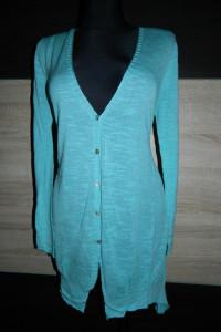 E women długi sweter guziki roz L...