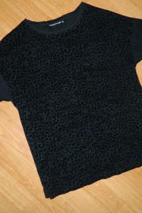czarna bluzka panterka roz XS...