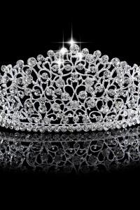 Nowa korona srebrny kolor księżna królowa księżniczka wesele śl...