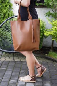 Torba Shopper Bag z naturalnej skóry licowej...
