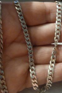 łańcuszek srebrny pancerka Italy...
