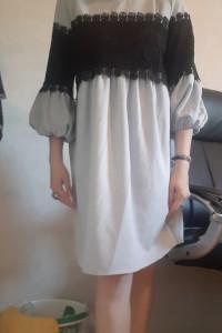 Sukienka elegancka szara...