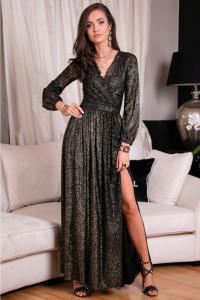 Czarna brokatowa sukienka kod 227 34 36 38 40 42 44...