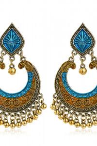 Nowe kolczyki indyjskie azjatyczkie boho hippie etno folk złoty...