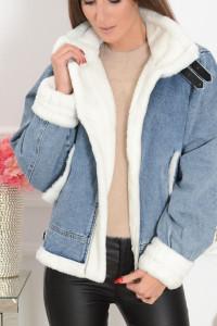 Kurtka jesieno zimowa jeans z futerkiem...