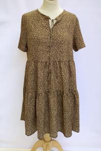 Sukienka Panterka Cętki Shein L 40 Brązowa Rozkloszowana...