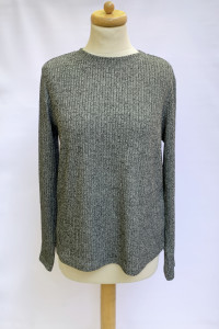 Sweter Shein Melanż XL 42 Sweterek Czarny Szary...