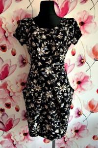 tenki sukienka modny wzór kwiaty ołówkowa jak nowa 40...