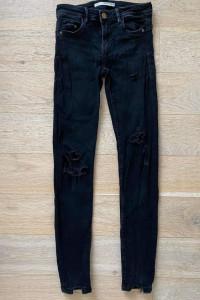 zara jeansy skinny przetarcia push up...