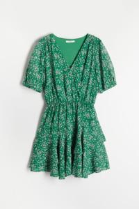 Sukienka Reserved zielona kwiaty...