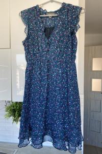 Apricot sukienka floral retro kwiaty
