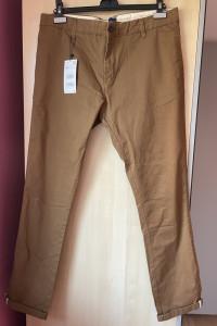 Zara męskie spodnie karmelowe chinosy camel...