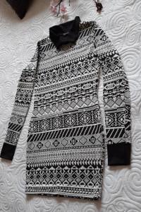 tunika black & white S...