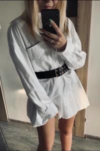 Długa koszula biała zara m