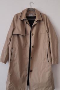 H&M beżowy dłuższy prosty płaszcz trencz 46...