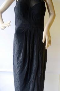 Sukienka NOWA Czarna Long L 40 Forever New Jedwab...