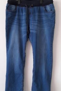 Niebieskie męskie elastyczne spodnie chinosy 52 54...
