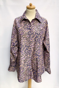 Koszula Wzory H&M M 38 Fioletowa Plamki Wzorki Elegancka...