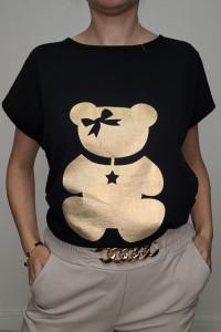 HIT T shirt czarny ze złotym Misiem 3XL...