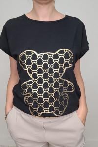 HIT T shirt czarny ze złotym Misiem 2XL...
