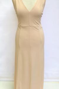 Sukienka NOWA Morelowa S 36 Bik Bok Odkryte Plecy Long