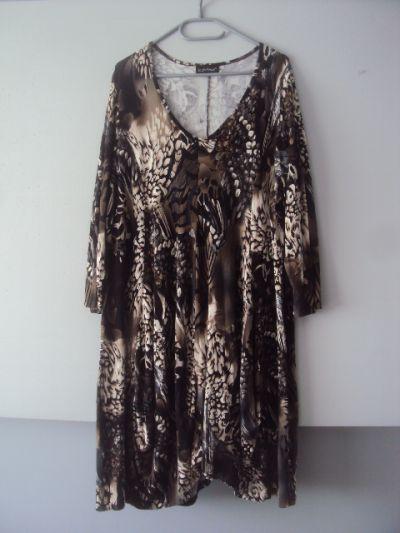 Suknie i sukienki dzianianinowa trapezowa sukienka