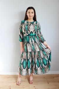 Suknia długa wąż zieleń