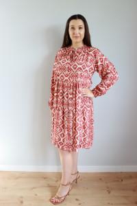 Sukienka wzory ruda